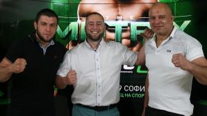 Бойците Тони Маркулев и Камен Георгиев в студиото на Sportal.bg преди SFC8 THE MATRIX