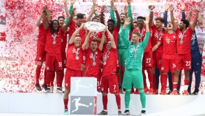 Празненствата на Байерн за титлата за сезон 2018/19