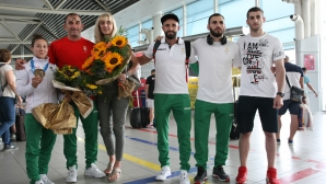 Самбисти се прибират от Европейските игри в Минск