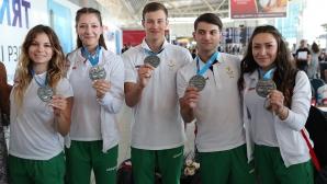 Сребърните ни медалисти по аеробика се прибраха в София