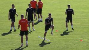 Тренировка на Ружомберок преди мача с Левски