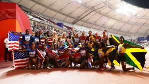 Триумф за САЩ и Ямайка в щафетите 4х100