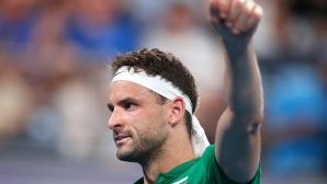Григор Димитров осигури първа победа на България на ATP Cup