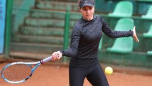 Открита тренировка на тенисистите Виктория Томова, Изабела Шиникова и Александър Лазаров