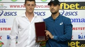 Награждаване  за отбор на месеца - Алекс Лазаров, Димитър Кузманов