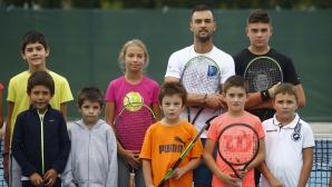 Открит урок по тенис с Димитър Кузманов