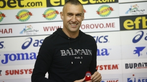 Награждаване на Мартин Камбуров за играч на месец октомври