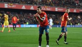 Серхио Рамос вкара победния гол за Испания при успеха срещу Норвегия