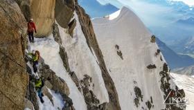 Вертикално предизвикателство високо в Алпите