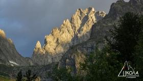 Първите 1300 метра от най-дългия алпийски маршрут в целите Алпи - Пьотере интеграле.