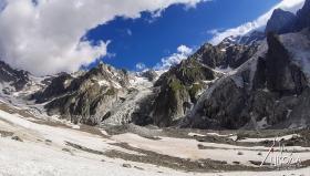 Ледникът Миаж.
