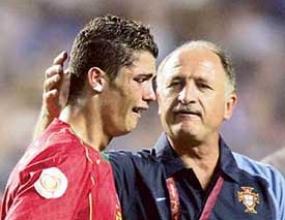 Кристиано Роналдо станал голям след поражението на Евро 2004