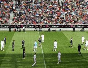 15 000 фенове, Кан и Рибери гледат тренировка на Байерн