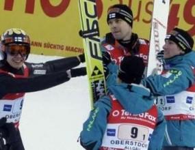 Финландия спечели отборното състезание по ски-скок в Оберстдорф