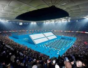Превръщат стадиона на Хамбургер в плувен басейн
