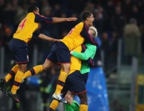 Рулетката на дузпите прати Арсенал на 1/4-финал