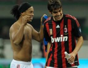 Кака и Роналдиньо в състава на Милан за Сиена