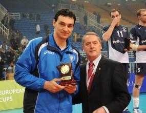 Владо Николов блокировач №1 на финалите за Купата на CEV