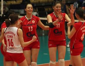 Волейболистките на ЦСКА на победа от финала, след успех над Славия с 3:0