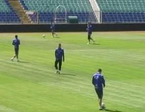 Левски направи последна тренировка преди дербито