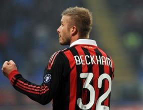 Бекъм бе включен в състава на Милан за Шампионската лига