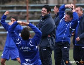 Левски с първа тренировка в Кипър