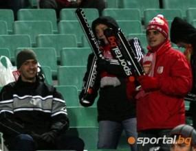 Седем фенове подкрепят ЦСКА днес