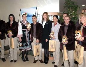 Българските олимпийци получихе плюшено лъвче за изпроводяк