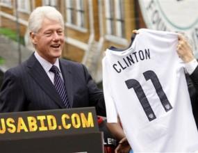 Бил Клинтън ще помага на САЩ в битката домакинство на Мондиал
