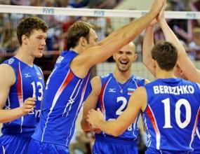 Русия с трета поредна победа в Световната лига след трудно 3:1 над Египет