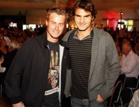 Федерер и Хюит на модно ревю вечерта преди финала