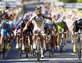 Марк Кавендиш спечели пети етап на колоездачната обиколка на Франция
