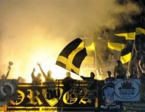 Феновете на Борусия Дортмунд и Карпати се били часове преди мача