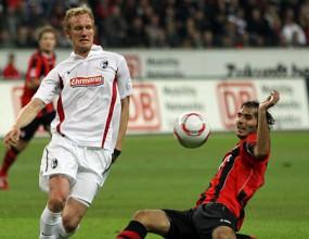 Късен гол изкачи Фрайбург на трето място в Бундеслигата