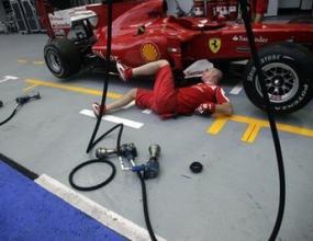 Ферари с подобрен дифузьор за Гран при на Сингапур