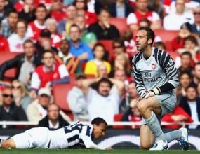 Алмуния и трагична защита доведоха Арсенал до срамна загуба