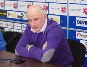 """Напрежение на """"Лазур"""" - Велков нямал думата за двубоя със Сливен"""