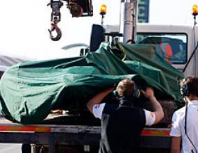 Лотус няма да тестват заради катастрофа