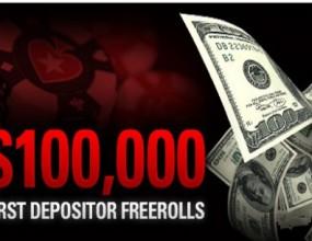 $100,000 във фрийроли за новодепозирали играчи в PokerStars