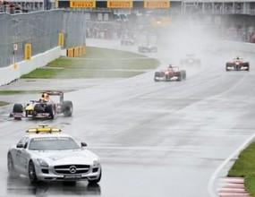 Прекратиха Гран при на Канада за повече от 2 часа, Фетел води след рестарта