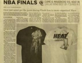 The Miami Herald поздрави Хийт с титлата