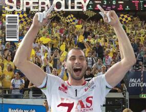 Матей изгря на корицата на Pallavolo Supervolley