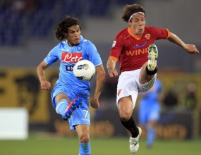 Рома се добра до хикс срещу Наполи (видео)