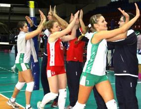 Волейболистките в бяло в първия си мач срещу Турция