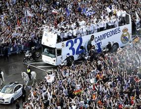 Реал Мадрид отпразнува 32-ата (фотогалерия+видео)