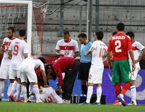 Турски национал с тежка контузия от мача с България