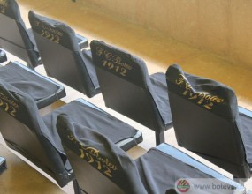 Поставиха новите седалки на ВИП ложата на Ботев (снимки)