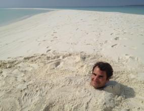 Заровиха Федерер в пясъка