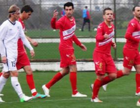 Драма във втората контрола на ЦСКА в Турция - шест гола и три дузпи белязаха проверката (видео)