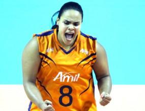 Невероятно! Волейболистка с наднормено тегло най-добро либеро в Бразилия (ВИДЕО)